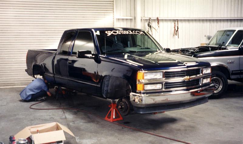 Jacked on Chevy Silverado Ext Cab